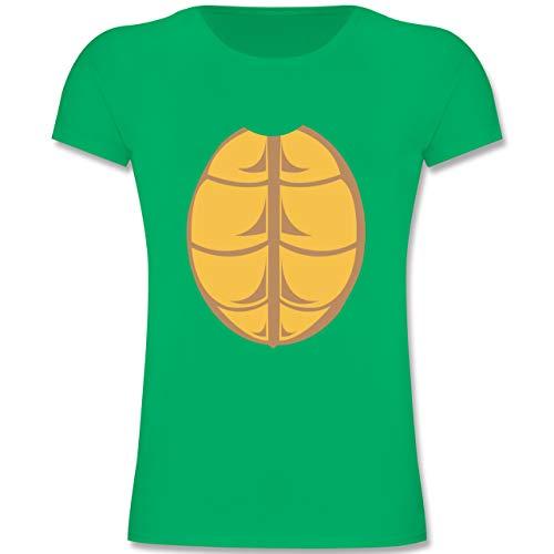 Kostüm Schildkröte Mädchen - Karneval & Fasching Kinder - Kostüm Schildkröte - 116 (5-6 Jahre) - Grün - F131K - Mädchen Kinder T-Shirt