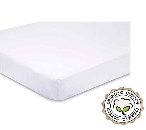 Low Price High Quality Pack of 2 Fitted Cotton Travel Cot Sheets 100 x 70 cm