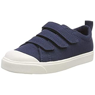 Clarks Jungen City FlareLo K Slipper, Blau (Navy Canvas), 30 EU