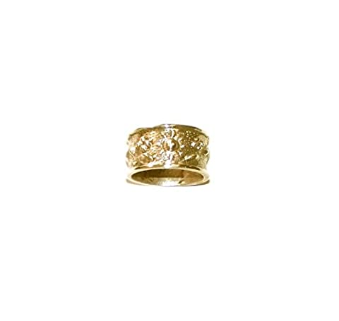 Byzantine Ring 24kt Pure Gold Plated Silver 925 Handmade