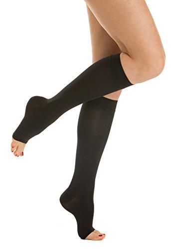 Relaxsan M1150A Soft microfiber open-toe medical compression knee high socks - Class 1 (15-21 mmHg)
