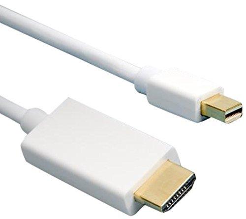HDSupply X-DC050-030 DisplayPort auf HDMI Kabel , vergoldete Kontakte, 3,0m, weiß