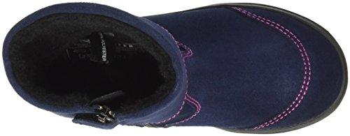 Richter Kinderschuhe Ilva, Bottes courtes avec doublure chaude fille Bleu - Blau (atlantic/fuchsia 7201)