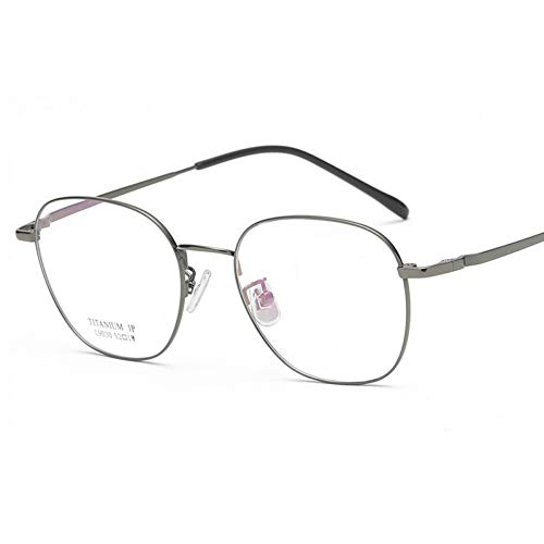 JJHR Sonnenbrillen Flache Spiegel Mit Quadratischem Brillengestell Business Titanrahmen Können Mit Spiegelgläsern Ausgestattet Werden