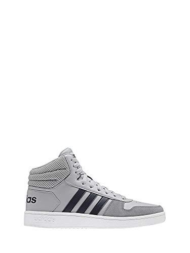 808bdcff2d4 adidas Hoops 2.0 Mid Scarpe da Basket Uomo, Grigio (Gretwo/Legink/Grethr