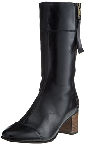 Marc O'Polo Damen Mid Heel Medium Boot 70714187101122 Schlupfstiefel, Schwarz (Black), 42 EU (Medium Heel Stiefel)