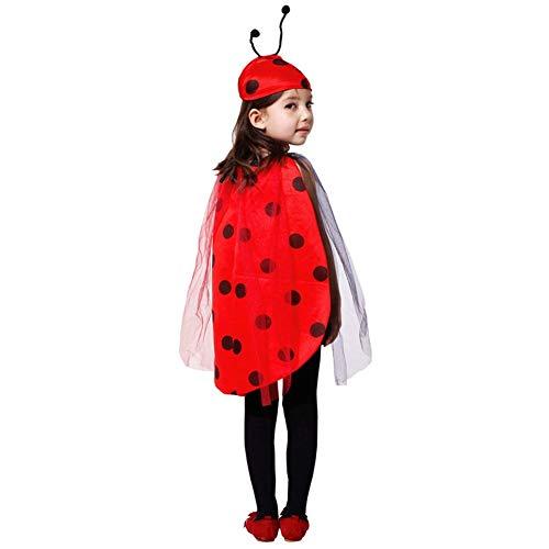 LOLANTA Mädchen Marienkäfer Cutie Kostüm Kind Käfer Halloween Kostüm Cosplay Kostüm (104/116 (3-5 Jahre))