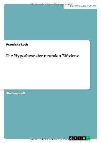 Die Hypothese der neuralen Effizienz