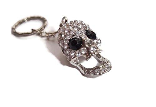 Halo accessoreis  skull keyring, Portachiavi  Donna argento silver
