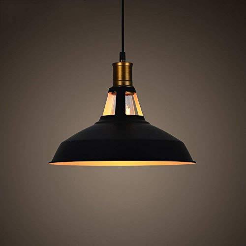DGHDFH Industrielle nautische Scheune Pendelleuchte Deckenleuchte Pendelleuchte Metalloberfläche Schatten Kronleuchter Droplight E27 (Farbe: Schwarz) ● -
