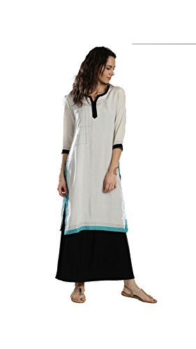 Women's Designer Partywear Printed A Line Anarkali Kurti Kurta Kameez (GT-KVR-W-L)  available at amazon for Rs.786