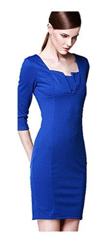KingField - Robe - Crayon - Manches Courtes - Femme Bleu - Bleu