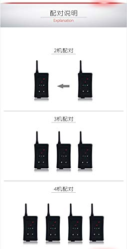 Football Intercom Referee BT intercom FBIM 4set Football Referee Full Duplex Bluetooth Interphone 1200M Synchronous Intercom Paired Wireless FM Function Included Fm Wireless Intercom