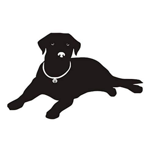 Liegende Wohnzimmer (Liegender Hund Wandtattoo Labrador Silhouette Wandtattoo Für Schlafzimmer Wohnzimmer Haustiere Wandaufkleber Für Kinderzimmer Kunstwand 44X28 Cm)