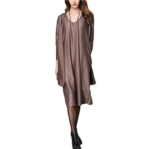 Robe déguisée robe ronde en col noire Kaki