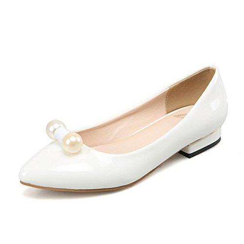 Komfortable Wohnung gewiesen Schuhe im Frühling und Sommer Lackleder Low-cut Schuhe/Lackleder-Arbeitsschuhe niedrig zu helfen/Schuhe fahren C
