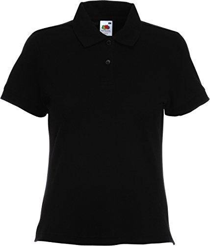 Fruit Of The Loom Damen/Frauen Kurzarm Polo Shirt (M) (Schwarz) M,Schwarz