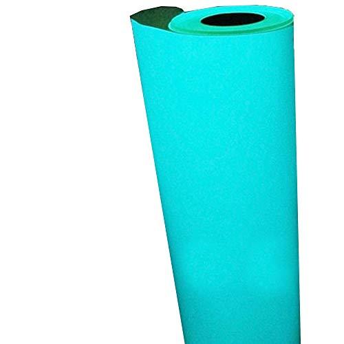 (HOHO blau Glow In The Dark HTV Wärmeübertragung Vinyl Tabelle Druck Muster für Kleidung 0,5mx0.3m)