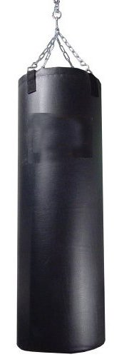 Sacco da boxe resistente in vinile, colore: nero