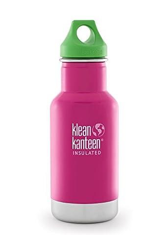 Klean Kanteen Edelstahl Kinderflasche mit Loop Cap 355 ml, Pink