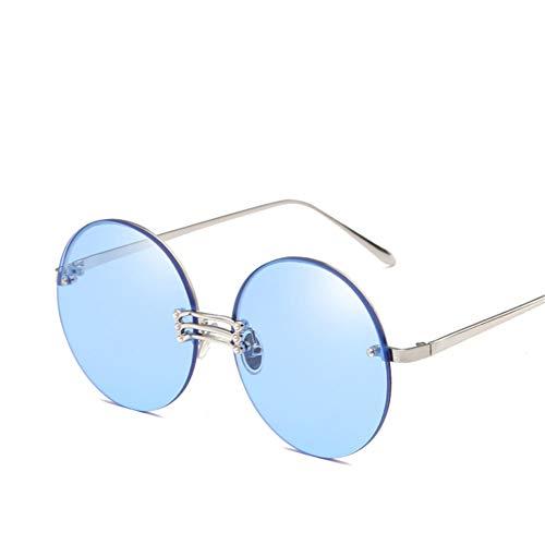 Wenkang Frameless Round Lens Sunglasses Designer Ocean Color Gradient Female Sun Glasses Ladies Club Eyewear Uv400 Glasses,4