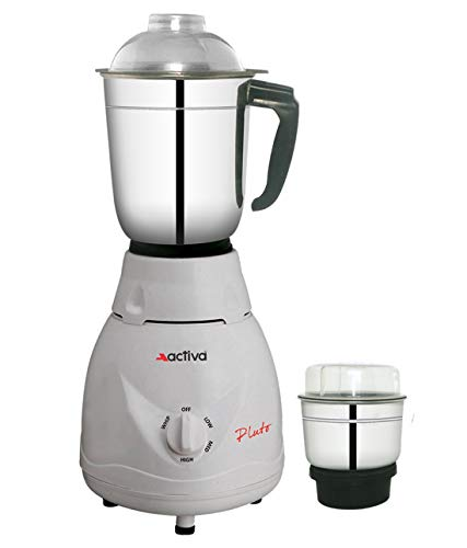 ACTIVA Pluto 2 JAR 500 WATTS Full ABS Body Mixer Grinder (White)