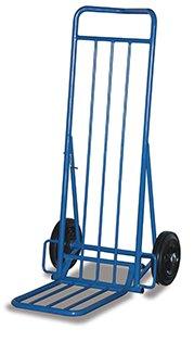 VARIOfit Paquet Roller/Journal diable, Pelle Rabattable, pneus en caoutchouc, charge 150 kg
