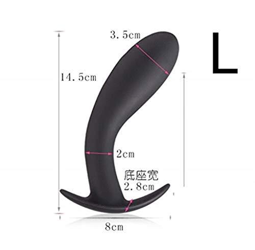 DNTK Klassische Dildos Anal Plug Material Hergestellt Anal Plug Massage Analtraining Erweiterte Entwicklung Insert Folter Anal Plug Props Orgasmus Stimulating Unisex (Size, L),Large