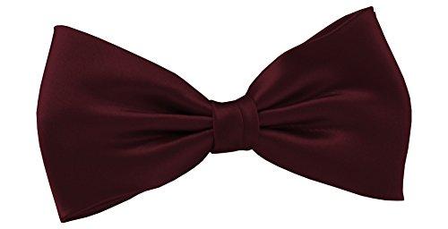 ADAMANT Herren Fliege Bordeaux Klassische Form