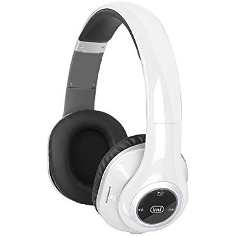 Trevi DJ 1280 BTR Stereofonico Padiglione auricolare Nero, Bianco cuffia