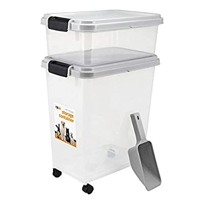 Prime Paws® 3-Piece Airtight Pet Food Storage Container with Measuring Scoop Plastic Pet Dog Cat Animal Dry Food Dispenser from Prime Paws