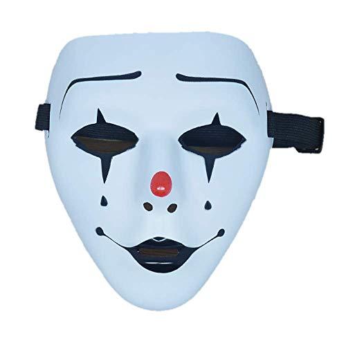 Ball Kostüm Master - FQCD Halloween Maske Clown handbemalte weiße Ghost Dance Maske Halloween lustige Street Dance Show süße weiße Ball Maske