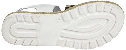 Arqueonautas 6751, Sandales ouvertes femme Blanc - Blanc