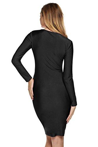 cooshional - Robe - Moulante - Femme Noir