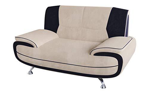 Mirjan24  Zweisitzer Sofa Palermo 2, Relaxsofa vom Hersteller, Polstermöbel, Modern Couch, Große Farb- und Materialauswahl, Sofagarnitur, Couchgarnitur (Mono 231 + Mono 248) -
