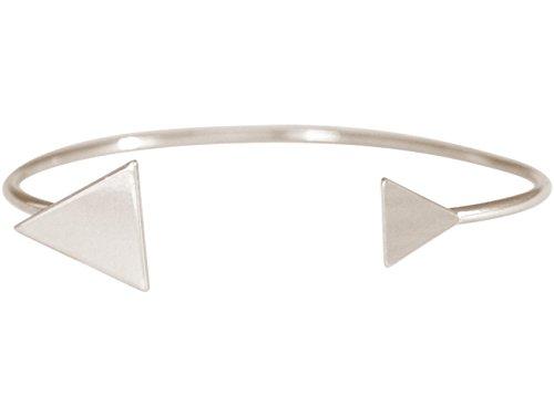 Gemshine - Damen - Armband - Armreif - Silber - Design - Dreieck - Scandi - Minimalistisch - Geometrisch - Design