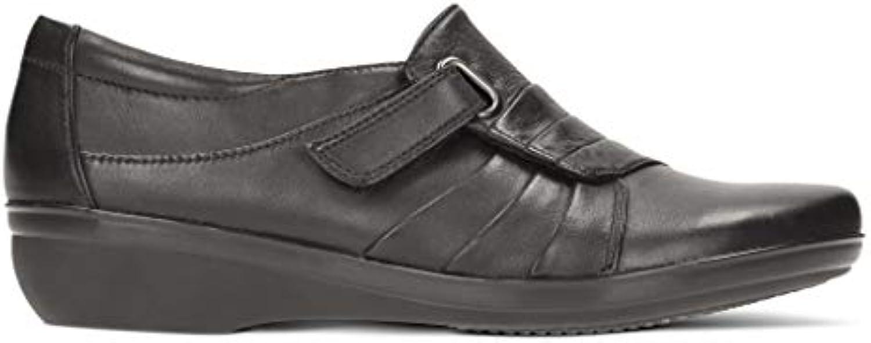 Clarks donna scarpe Everlay Luna nero Leather | Elevata Sicurezza  | Maschio/Ragazze Scarpa