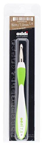 ADDI Swings Griff, Stärke 7,00 mm Häkelnadel, Aluminium mit Kunststoff, Mehrfarbig, 24 x 6.5 x 2 cm