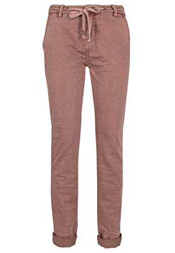 Urban Surface Frauen Sweatpants in Denim-Optik mit Streifen Dark-Rose S -