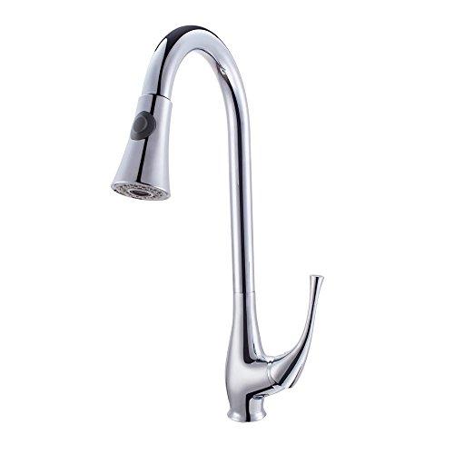 Moderna singola maniglia di stile commerciale rubinetto della cucina estrae il Giù spruzzatore rubinetto da cucina rubinetti girevole lavello, finitura cromata