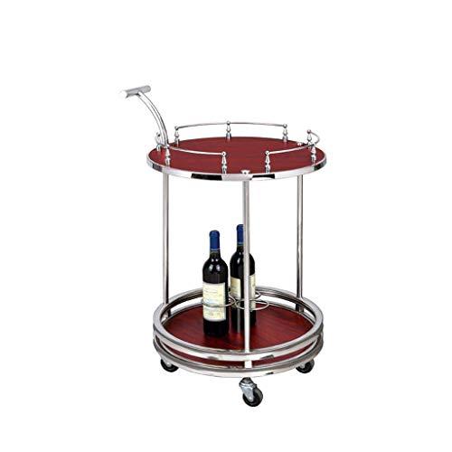 B-K Vier Räder Portable Tool Storage Cart Rack - Doppelschicht Mobile Trolley Tool Cart Wein Cart Tee Wasser Cart Snack Car Hotel Restaurant Lieferung Car Utility Cart, b, 50x50x85cm -