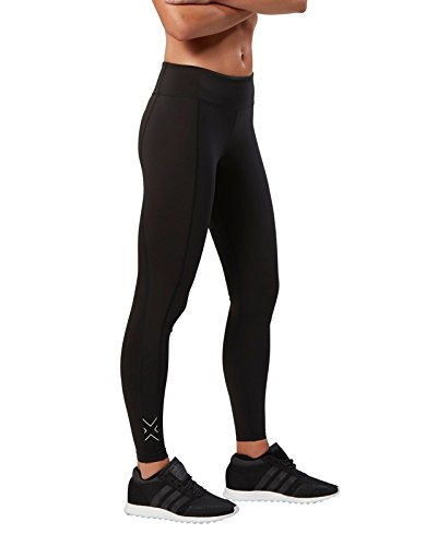 2 x U Collant de Compression de Fitness pour Femme L Black/Sil