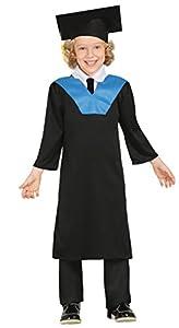 Guirca - Disfraz de estudiante, talla 3-4 años, color negro (85613)