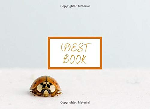 (P)est Book: Ladybug Sarcastic Funny Guest Sign In Book With Email Column | Compact and Small Soft Cover To Suit Any Home or Business or Entomologist With A Sense of Humor