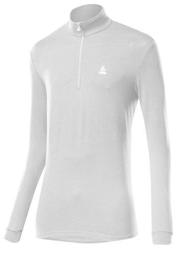 Löffler Herren Pulli Transtex Basic Cf, weiß, 56, 14001 (Fleece Herren Langarm-shirt)