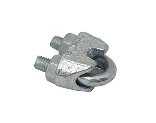etherma Accessoires Chauffage gouttière Do de 3, Serre-câble étrier acier galvanisé 26571