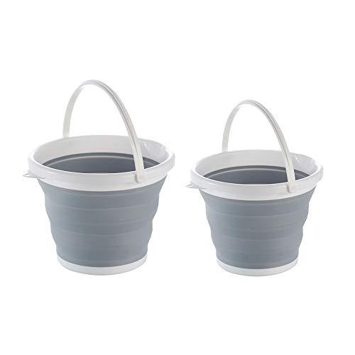 TYI Falteimer Faltbare Wasserbehälter Tragbare Versenkbare Kunststoff Haushalts Reise Verwendet für Sauberes Auto Waschen oder Home Storage Angeln Fass (2 STÜCKE) - Auto Waschen Gallone