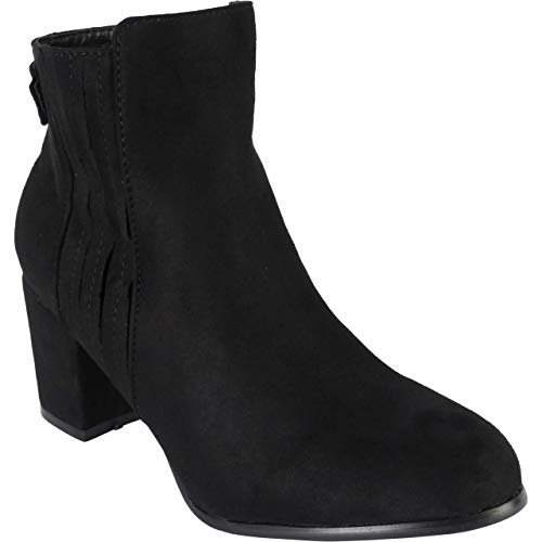 BeMeesh Womens Ladies Ankle Boots Block Heel Zip Shoes