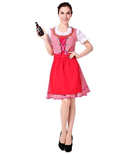Halloween Kostüm,Deutsch Bier Anzug Bayerischer Tracht Oktoberfest Restaurant Arbeitskleidung, Stil 3, ()