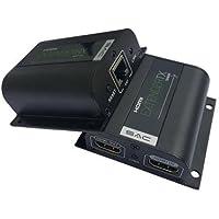 se43–Sac 60m 1080P HDMI Extender via singolo cat5e/6/7su cavo di rete con IR e passante